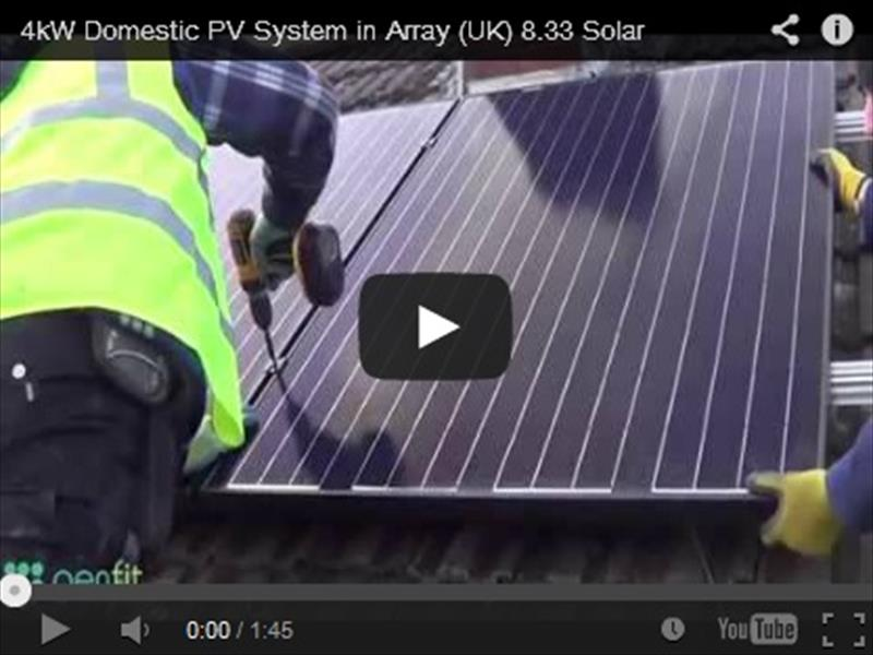 4kW Domestic PV System in Array (UK) 8.33 Solar