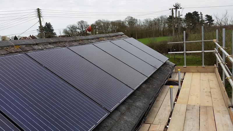 4 KW DOMESTIC PV SYSTEM IN, CLOPTON COTTAGE , SUFFOLK, 250W 8.33 SOLAR ETERNITY.